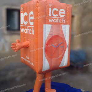 mascotte gonflable ice watch. Objet publicitaire gonflable. PLV gonflable.